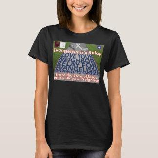 福音の伝道のTシャツのためのあなたの隣のリレーを愛して下さい Tシャツ