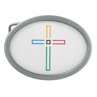 福音の十字のベルトの留め金 卵形バックル