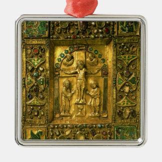 福音カバー、Ottonian、ドイツ、11世紀(gol シルバーカラー正方形オーナメント