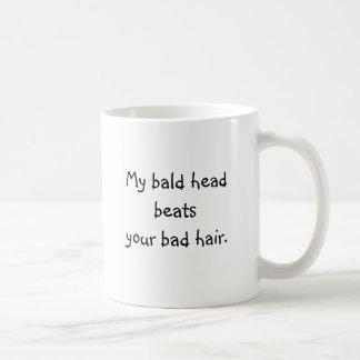 禿げ頭のマグ コーヒーマグカップ
