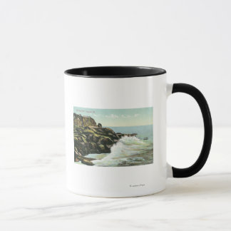 禿げ頭の崖の眺め マグカップ