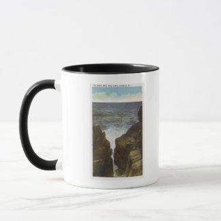 禿げ頭の崖の眺め、峡谷 マグカップ
