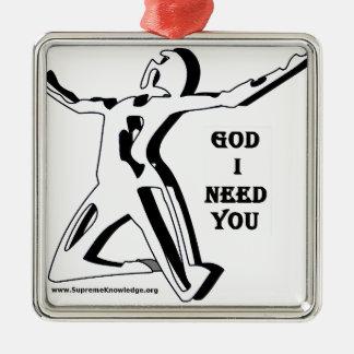 私いる神は今必要とします メタルオーナメント