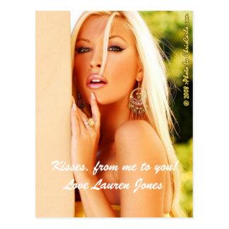 私からのあなたへのキス、! 愛Laurenジョーンズ ポストカード