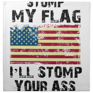 私があなたのずかずかと歩く私の旗をストップ ナプキンクロス
