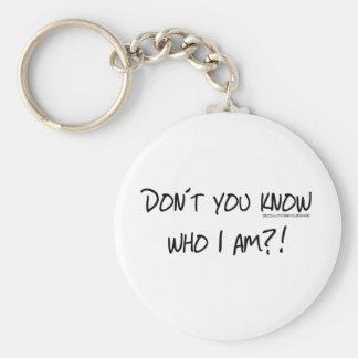 私がだれであるか知りませんか。 キーホルダー