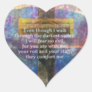 -私がによって…歩くのに賛美歌の23:4 ハートシール