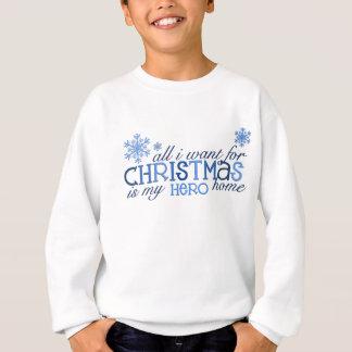 私がクリスマスの…英雄のためにほしいすべて スウェットシャツ