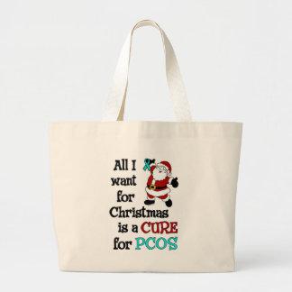 私がクリスマス… PCOSのためにほしいすべて ラージトートバッグ