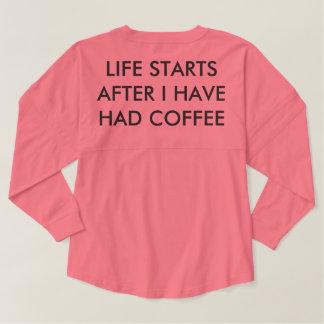私がコーヒーを食べた後生命開始 スピリットジャージー