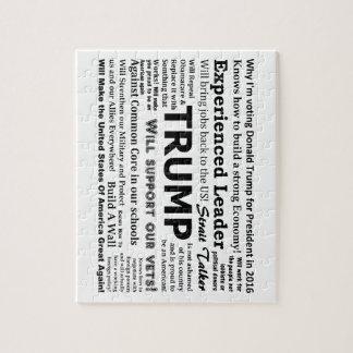 私がドナルド・トランプのためになぜ投票しているか ジグソーパズル