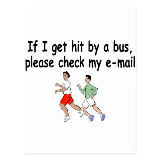 私がバスによって衝突を得たら私の電子メールを点検して下さい ポストカード