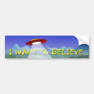 私が信じたいと思うUFOのエイリアンの受皿のデカール バンパーステッカー