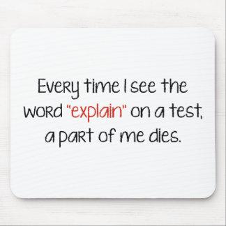 """私が単語が""""説明するのをテストで""""見る度にA P マウスパッド"""
