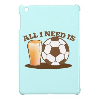 私が必要とするすべてはですビールおよびサッカー(フットボールの球) iPad MINIケース