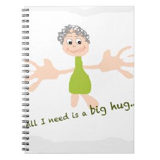 私が必要とするすべては大きい抱擁-グラフィックおよび文字です ノートブック