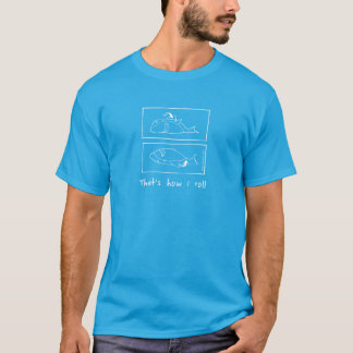 私が暗いTシャツをいかに転がるかShaaark- Tシャツ