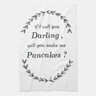 """""""私が最愛の人と電話すれば、します私にパンケーキ""""を タオル"""