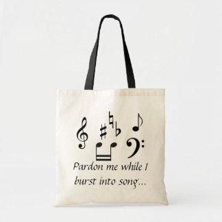 私が歌に破烈する間、私を赦免して下さい トートバッグ