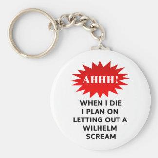 私が死ぬとき、私はウィルヘルムの叫びを放つことで計画します キーホルダー