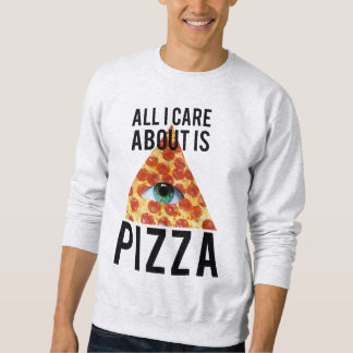 私が気にするすべては約ピザです スウェットシャツ