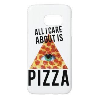 私が気にするすべては約ピザです SAMSUNG GALAXY S7 ケース