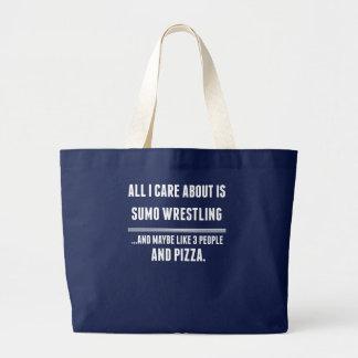 私が気にするすべては約相撲レスリングのスポーツです ラージトートバッグ