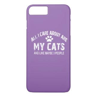 私が気にするすべては約私の猫です! iPhone 8 PLUS/7 PLUSケース