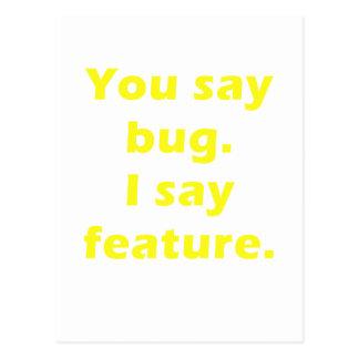 私が特徴を言う虫を言います ポストカード