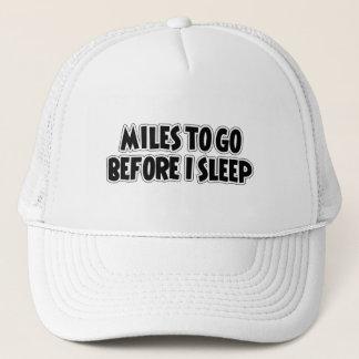 私が眠る前に行くマイル キャップ