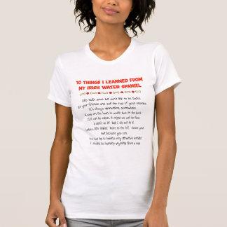 私が私のアイリッシュ・ウォーター・スパニエルから学んだおもしろいな事 Tシャツ