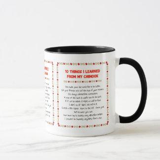 私が私のチヌックから学んだおもしろいな事 マグカップ