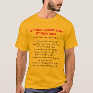 私が私のチャウチャウから学んだおもしろいな事 Tシャツ