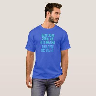 私が私のトラックの背部を弾くのを救済して下さい Tシャツ