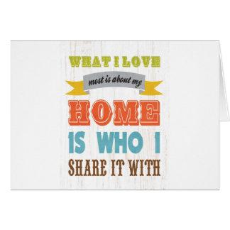 -私が私の家についてほとんどをある愛する何芸術か カード