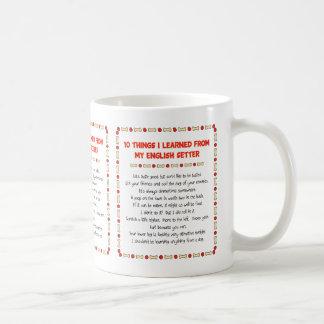 私が私の英国セッターから学んだおもしろいな事 コーヒーマグカップ