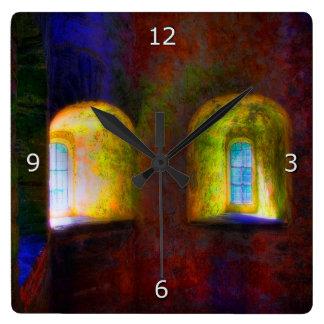 私が私の記憶を保つ私の心の部屋 スクエア壁時計