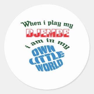 私が私のdjembeを遊ぶ時 ラウンドシール
