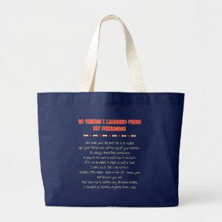 私が私のPekingeseから学んだおもしろいな事 ラージトートバッグ