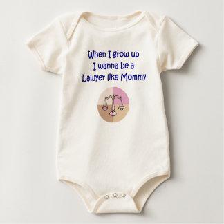私が私を育つときお母さんのベビーのような弁護士になりたいと思って下さい ベビーボディスーツ