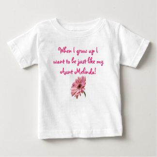 私が私を育つときピンクのデイジーは、…ちょうどリチウムでありたいと思います ベビーTシャツ