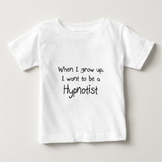 私が私を育つときHypnotistがありたいと思って下さい ベビーTシャツ