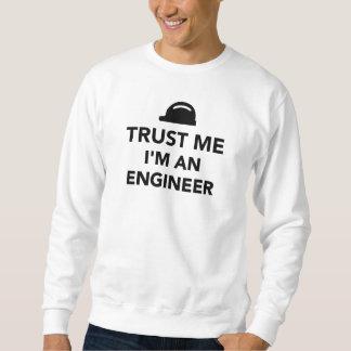 私が私エンジニアであることを信頼して下さい スウェットシャツ
