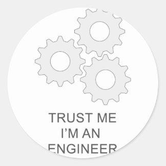 私が私エンジニアであることを信頼して下さい ラウンドシール