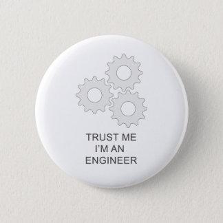 私が私エンジニアであることを信頼して下さい 缶バッジ