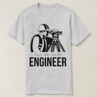私が私エンジニアの卒業のギフトのTシャツであることを信頼して下さい Tシャツ