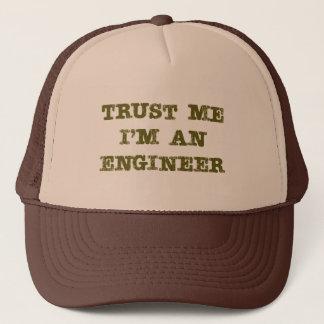 私が私エンジニア(茶色)であることを信頼して下さい キャップ