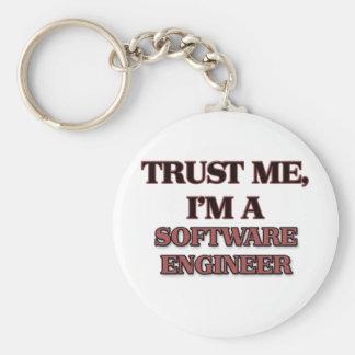 私が私ソフトウェアエンジニアであることを信頼して下さい キーホルダー