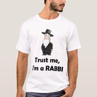 私が私ラビ-おもしろいなユダヤ人のユーモアであることを信頼して下さい Tシャツ