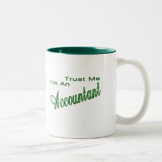 私が私会計士であることを信頼して下さい ツートーンマグカップ